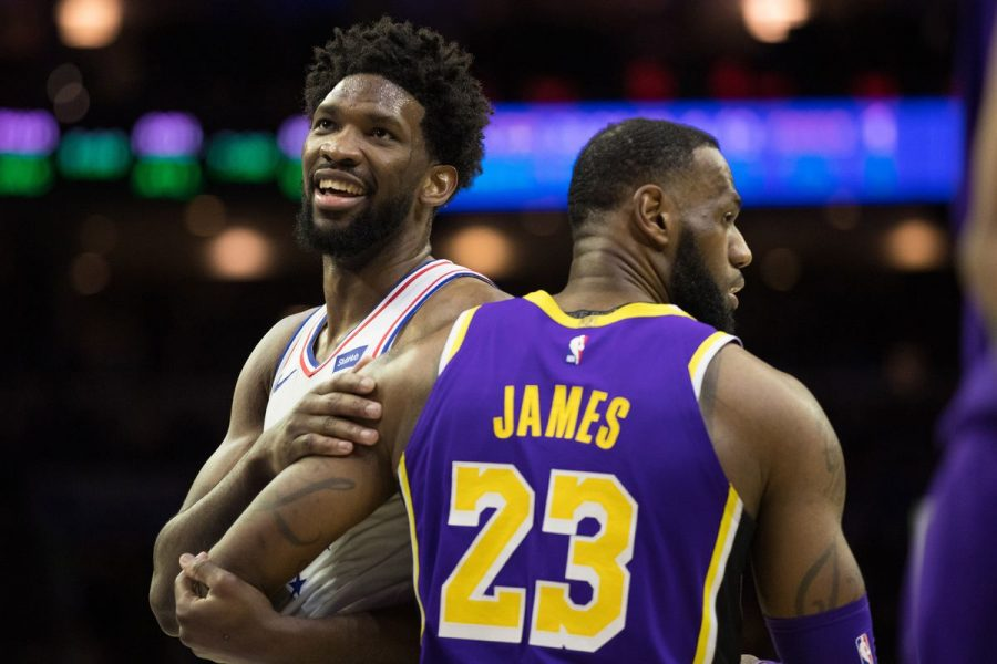 Sixers%27+Joel+Embiid+and+Lakers%27+LeBron+James+meet+up+as+the+Sixers+would+decimate+the+Lakers+143-120+on+Sunday.