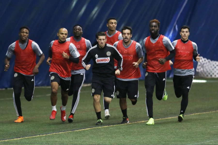 The new-look Philadelphia Union entering their first workout of the 2019 season.