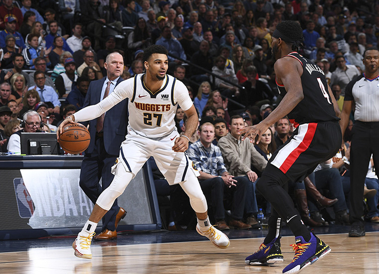 Nuggets+Top+Trail+Blazers+In+Game+One