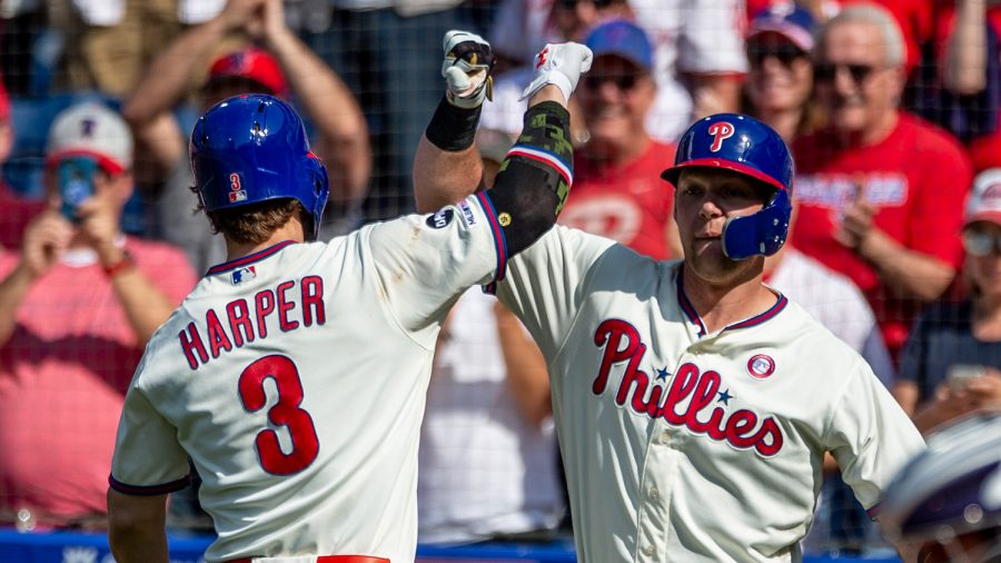 Phillies%27+Bryce+Harper+crushed+2+home+runs+and+6+RBI+in+the+Phillies%27+series+sweep+over+the+Colorado+Rockies+over+the+weekend.+
