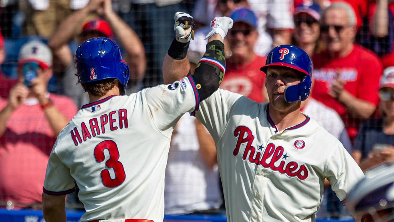 Phillies' Bryce Harper crushed 2 home runs and 6 RBI in the Phillies' series sweep over the Colorado Rockies over the weekend.