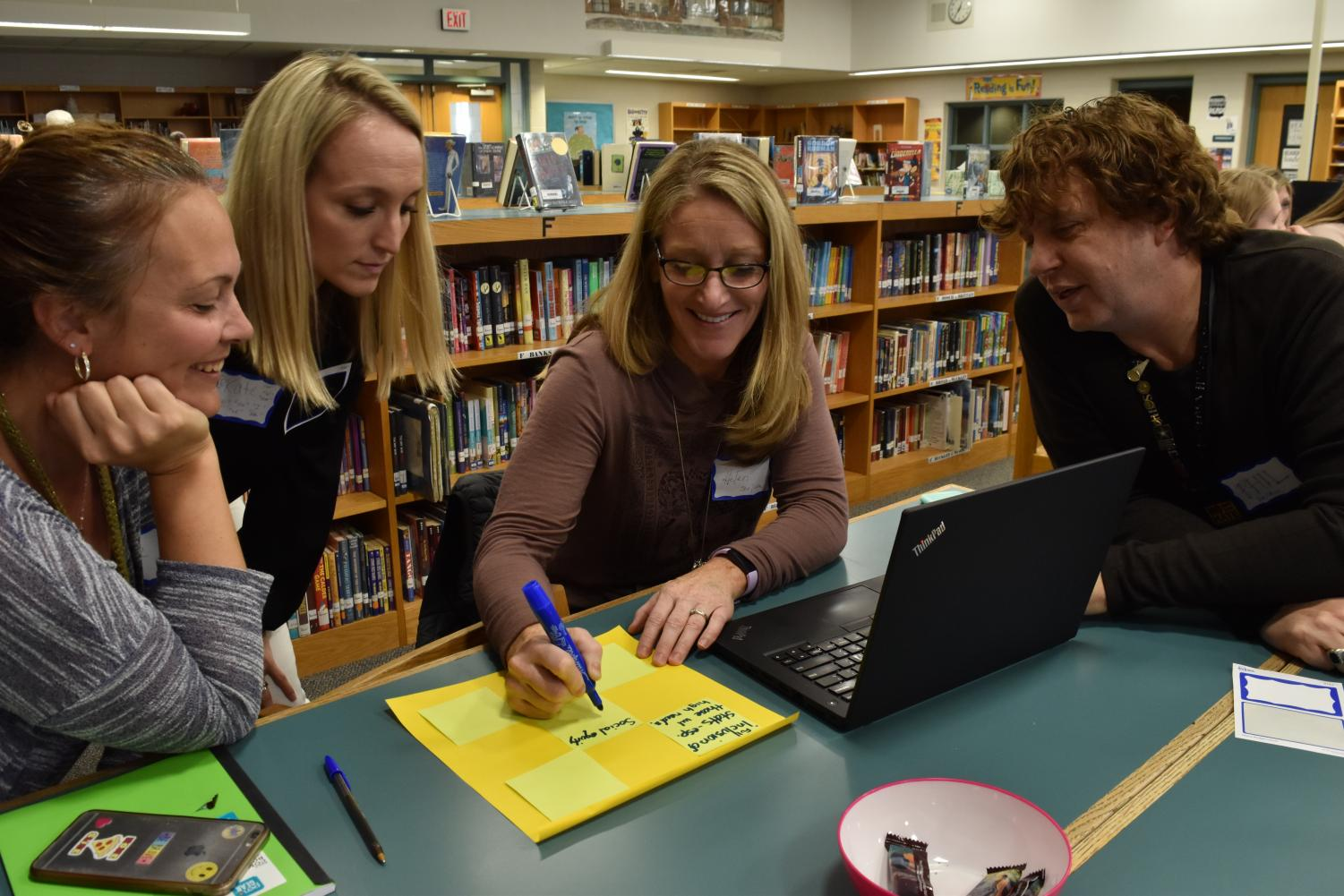 Teachers spent the in-service day attending previously signed-up-for sessions, meant to educate them in several topics that affect students and teachers.