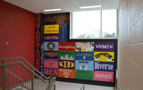 Mural Depicts Student Diversity