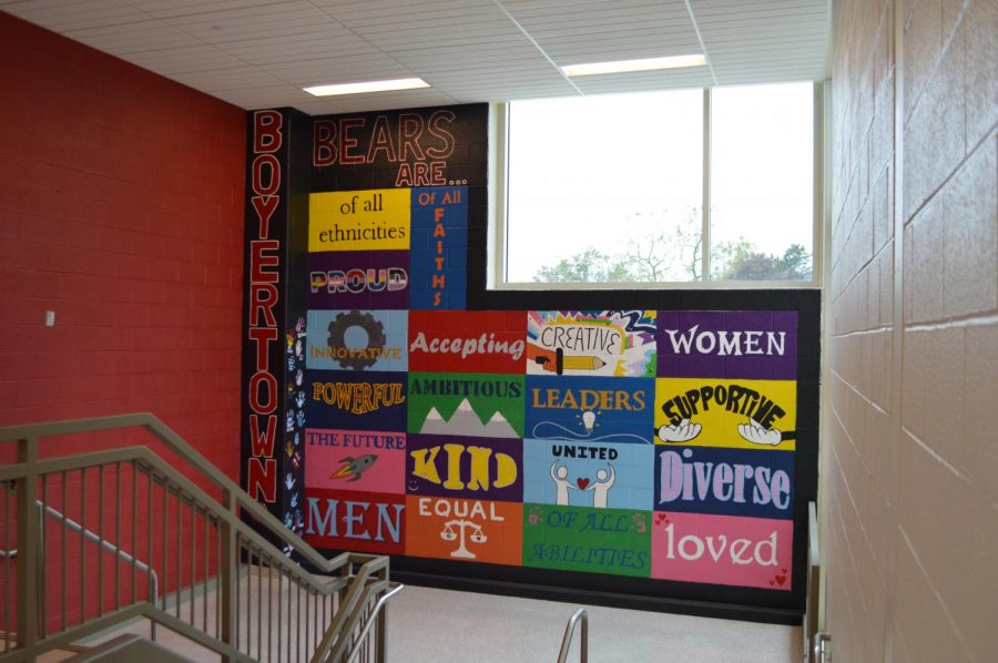 The diversity wall is meant to represent everybody at BASH, bringing inclusion and acceptance.