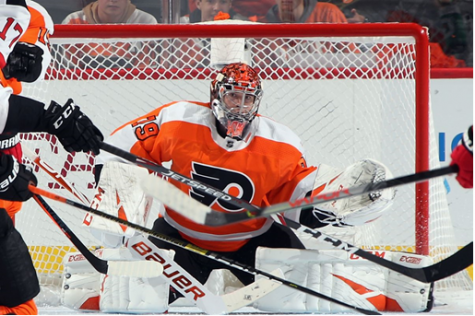 Carter Hart Shows Out First NHL Shutout at Home Opener