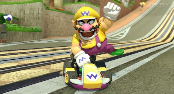 Mario Kart character Wario, as he is in Mario Kart 8.
