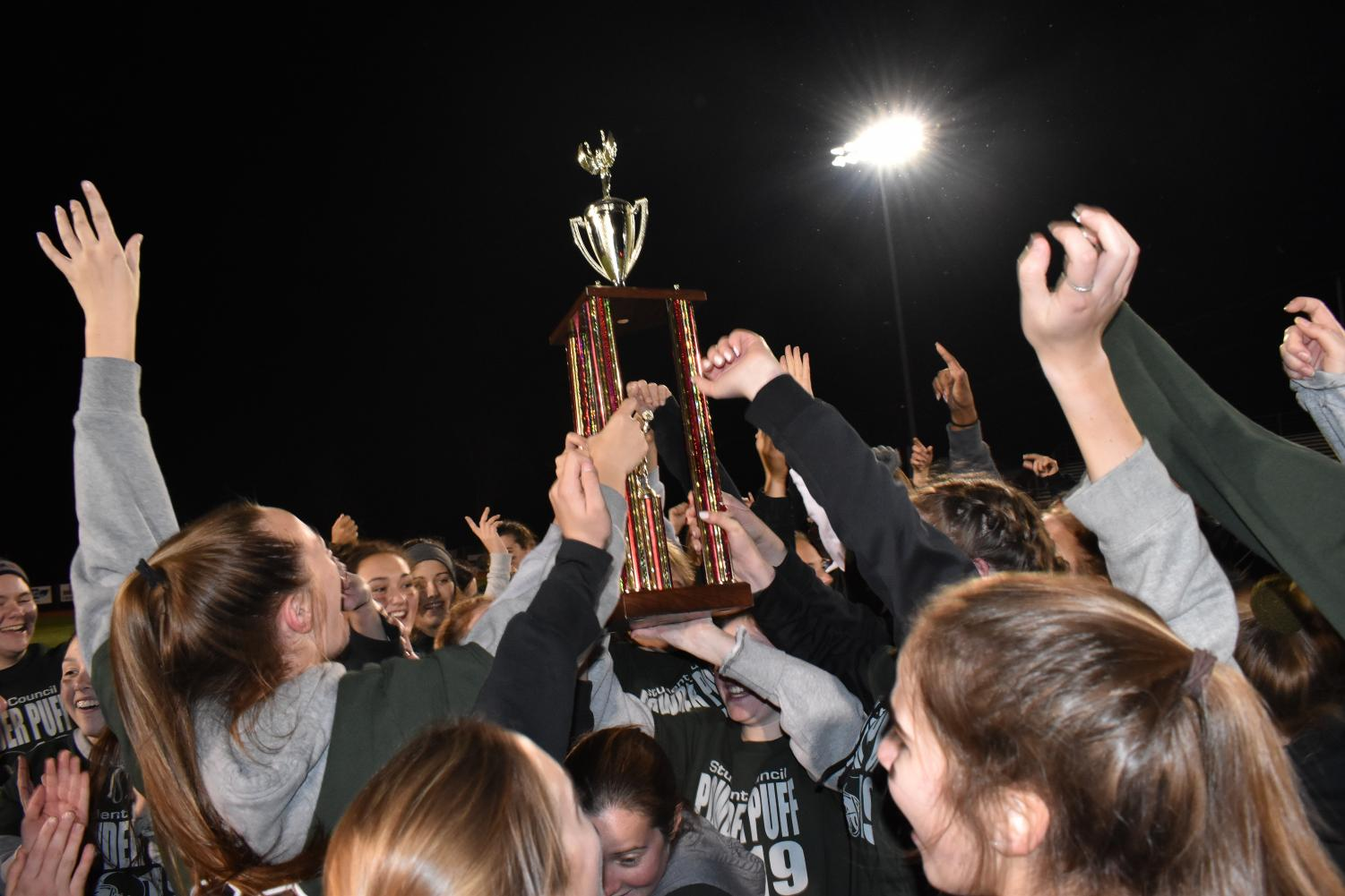 Seniors won Powder Puff this year, bringing out their second win in a row.