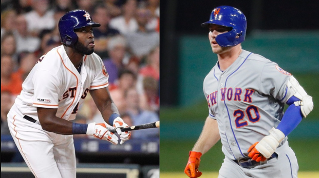 Houston Astros' Yordan Alvares and New York Mets' Pete Alonso were named MLB Rookies Of The Year on Monday.