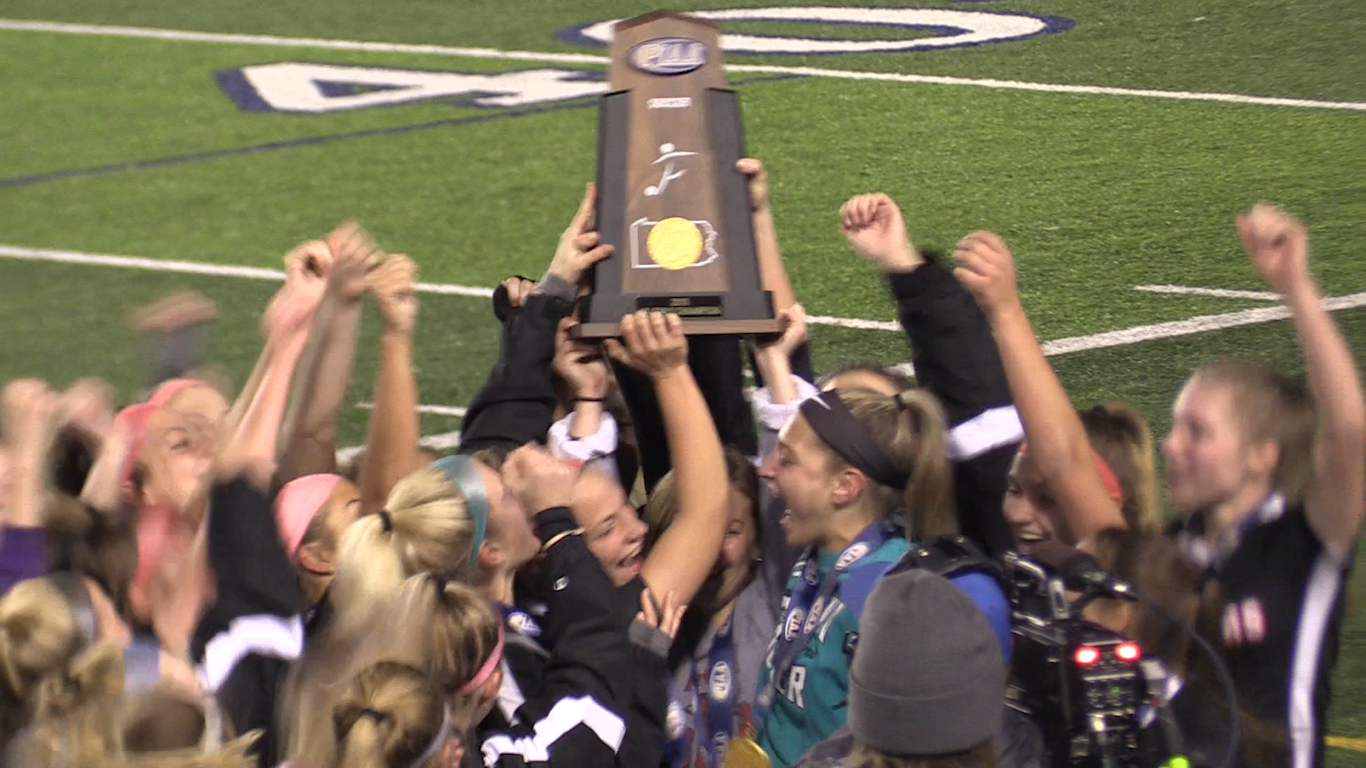 Varsity brought home the first state championship win Boyertown Girls Soccer has ever had.