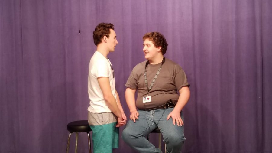 One of the improv prompts dealt with Connor pretending to be a teacher mad at his student, Riley.