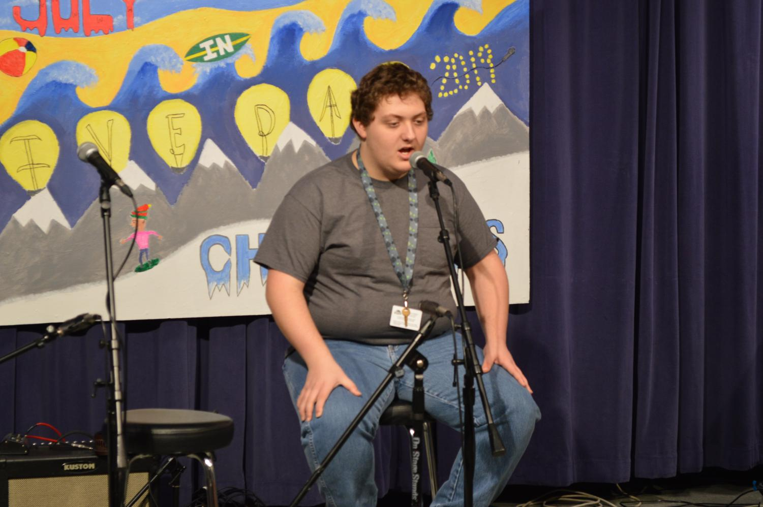 Riley Fischer, a BASH junior, performed a cover of