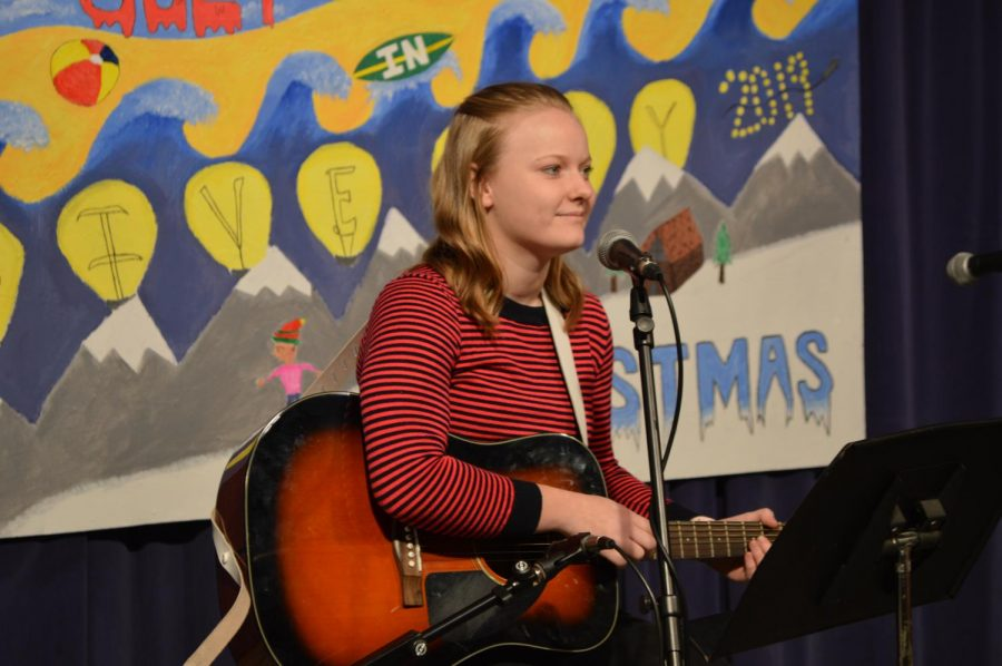 BASH TV member Victoria Hayes performed an original song titled,