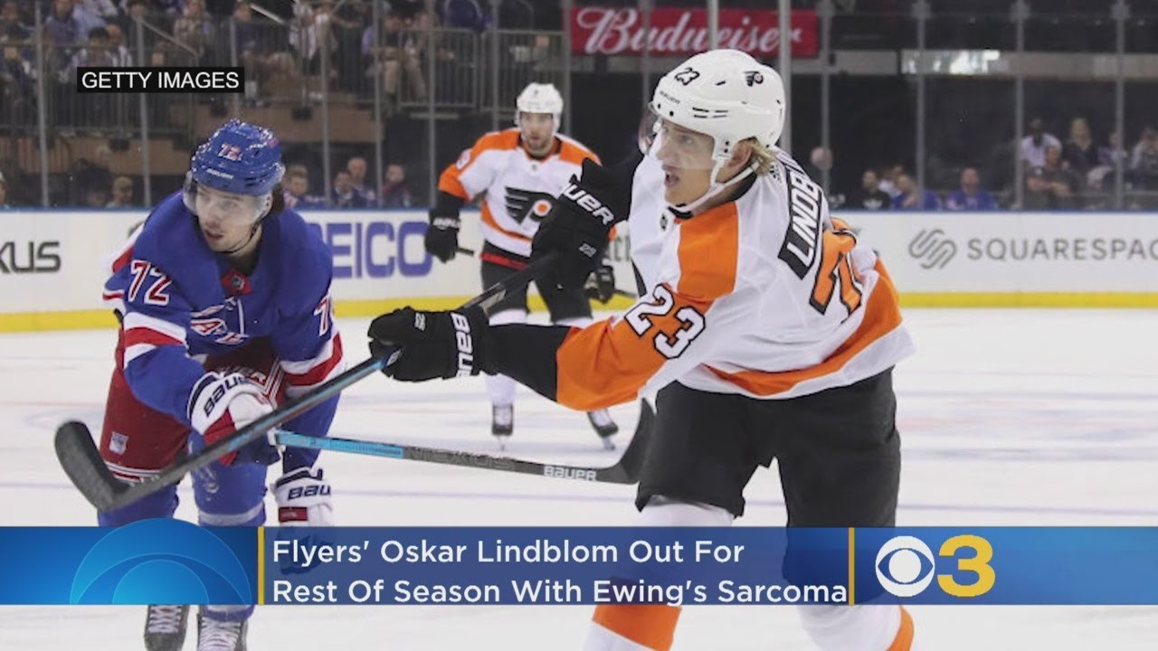 The Flyers announced that Oskar Lindblom was diagnosed with a rare form of cancer, Ewing's Sarcoma, on December 13th.
