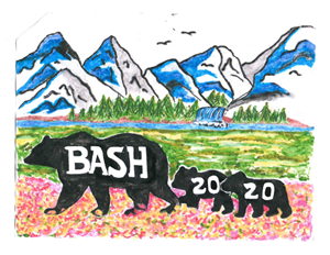 The Class of 2020 class flag, designed by senior Raeanne King. The flag is currently hanging in the cafeteria.
