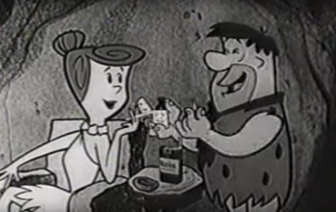 The Flintstones sharing a cigarette serves as a staple of a bygone time where smoking was commonplace.