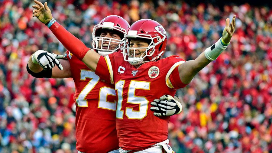 Chiefs%27+QB+Patrick+Mahomes+and+offensive+tackle+Eric+Fisher.+
