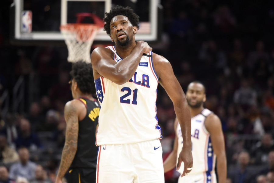 Sixers' Joel Embiid will undergo an MRI after suffering a sprained shoulder in the 1st quarter of the Sixers' game vs Cleveland on Wednesday night (via Liberty Ballers).