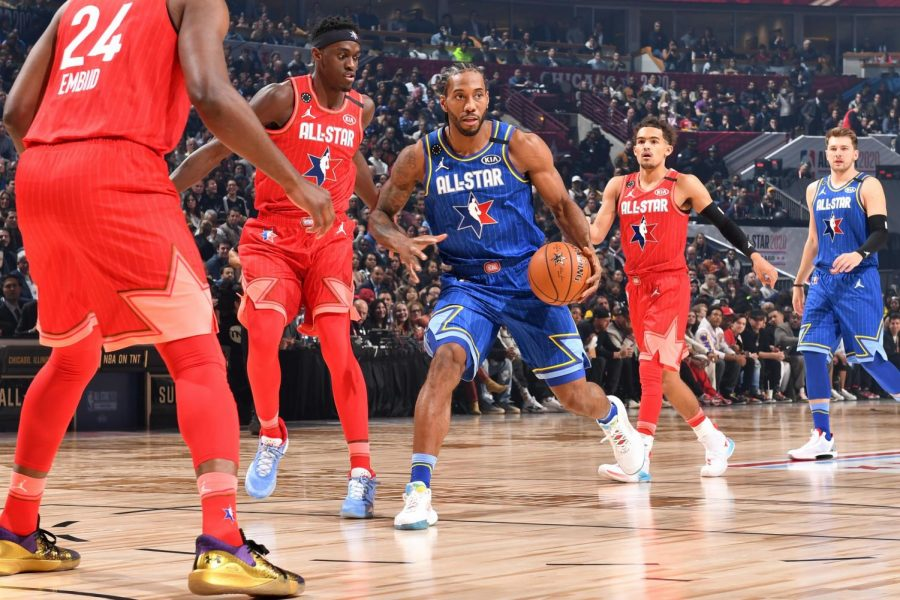 Clippers' Kawhi Leonard won the NBA All-Star game MVP award with 30 points (via Bleacher Report)