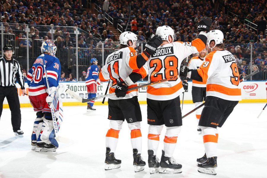 The Flyers extended their 6-game win streak on Sunday with a 5-3 win over the New York Rangers to move into 2nd place in the Metropolitan Division (via Blueshirt Banter).