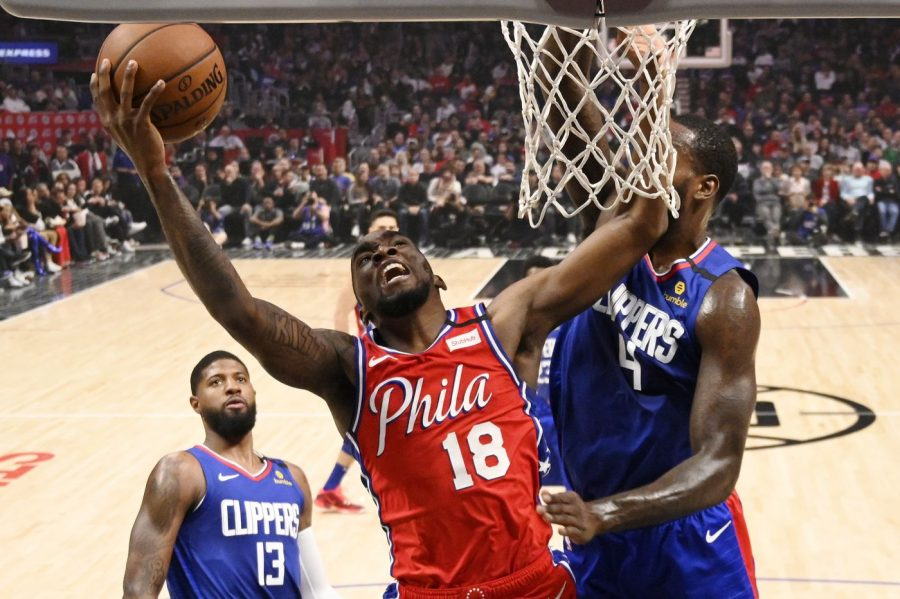 Sixers' PG Shake Milton makes a contested layup in the Sixers' 136-130 loss to the Clippers on Sunday (via The Philadelphia Inquirer).