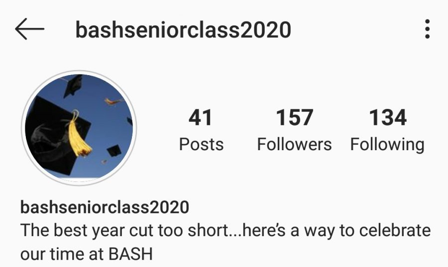 Appearing suddenly, the account aims to highlight BASH seniors after Gov. Wolf announced PA schools to close the rest of the year.