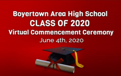 The virtual commencement ceremony, broadcast on Youtube and the district's Comcast channel, showcased the BASH Choir, the senior class montage produced by PJ Riddell, the class song sung by Kat Kovatch, and many speeches from the Class Officers, Dr. Foley, and Dr. Bedden.