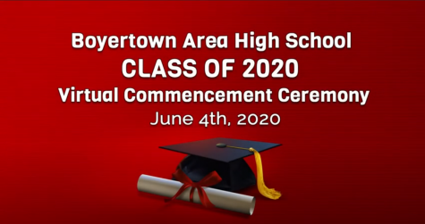 The virtual commencement ceremony, broadcast on Youtube and the district