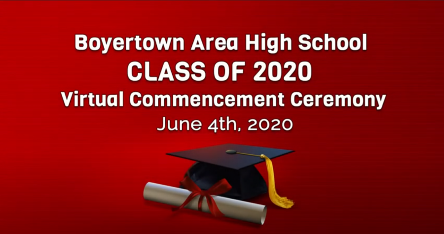 The+virtual+commencement+ceremony%2C+broadcast+on+Youtube+and+the+district%27s+Comcast+channel%2C+showcased+the+BASH+Choir%2C+the+senior+class+montage+produced+by+PJ+Riddell%2C+the+class+song+sung+by+Kat+Kovatch%2C+and+many+speeches+from+the+Class+Officers%2C+Dr.+Foley%2C+and+Dr.+Bedden.