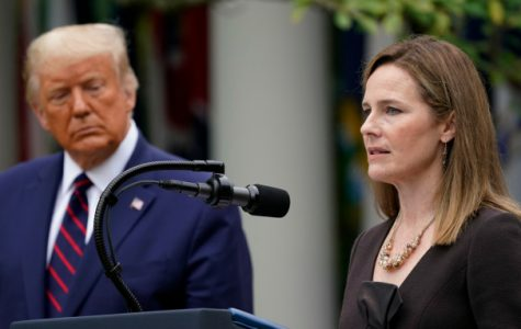 Judge Amy Coney Barrett speaks after President Donald Trump announced Barrett as his nominee to the Supreme Court, in the Rose Garden at the White House, Saturday, Sept. 26, 2020, in Washington.