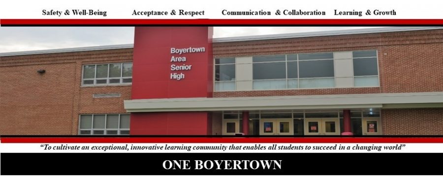 Boyertown Area Senior High School Main Entrance