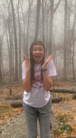 Ninth Grader Ella Albright is expressing her fear of rain
