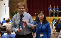 Josh at TSA regionals last year with former Boyertown student and TSA member.