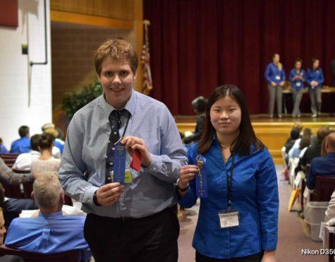 Josh at TSA regionals last year with former Boyertown student and TSA member.