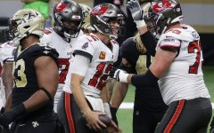 Tampa Bay Buccaneers defeat divisional rival New Orleans Saints in NFC Divisional Round game in quarterback Drew Brees' final NFL game.