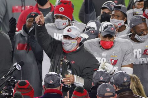 The Tampa Bay Buccaneers defeat the Green Bay Packers in  the NFC Championship game, and will host the Super Bowl