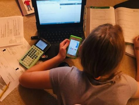 A student using their resources to cheat on a test.