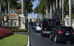 Secret Service vehicles line up outside of Mar-a-Lago (Via Politico)