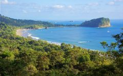 This is a stunning view of the Manuel Antonio National Park!