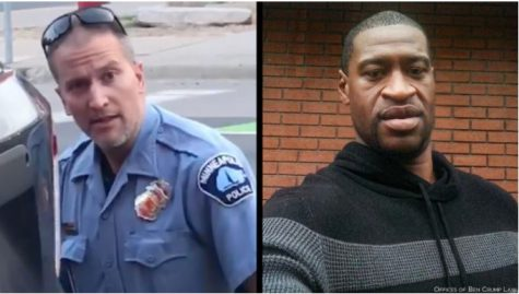 Officer Derek Chauvin (left) tried and convicted for the murder of George Floyd (right).