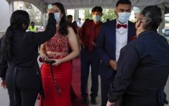 This photo shows another school practicing a safe and socially distanced prom, similar to how Boyertown;s will be.