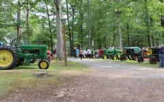 All of the different kinds of tractors shown at the event.