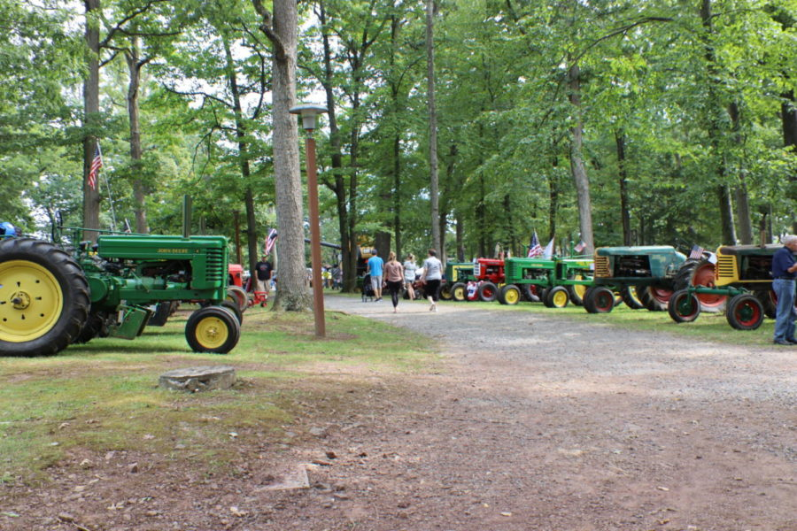 Boyertown holds first ever tractors in the park!
