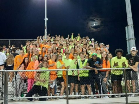 The student section at the Boyertown vs. Pottsgrove Neon Out on September 17, 2021.