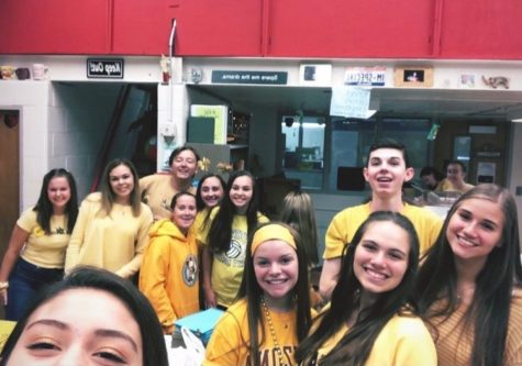 Student Council members at the 2019 Gold Out