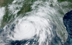 Satellite image of Hurricane Ida.