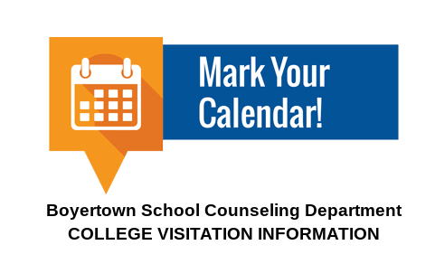 Picture from the college visitation calendar document.
