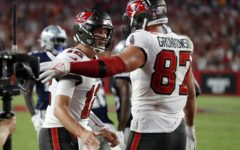 In Thursday Night's season opener victory against the Dallas Cowboys, Bucs QB Tom Brady, total touchdowns to tight end Rob Gronkowski (100) is now second all time only behind former Colts' QB Peyton Manning and wide receiver Marvin Harrison who have 114.
