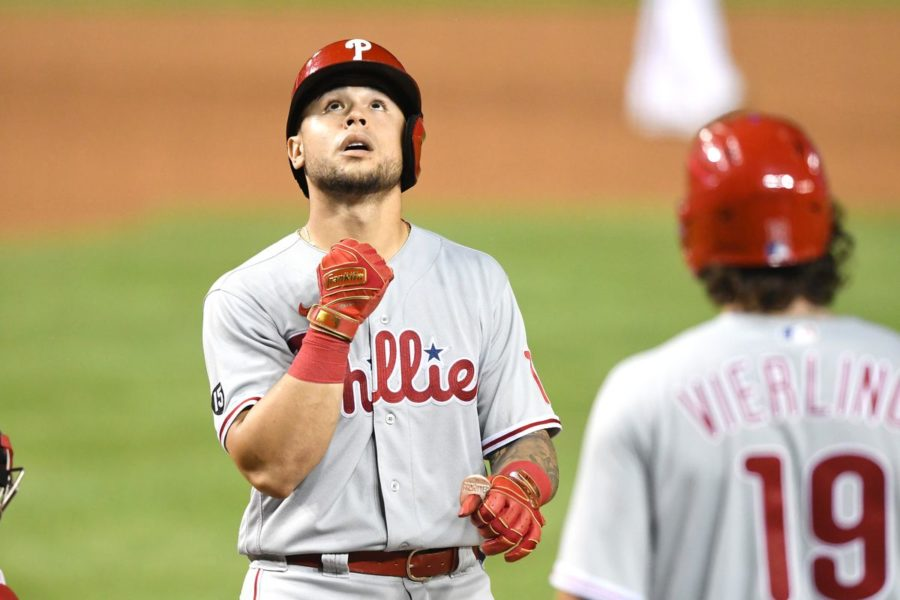 An underwehelming lineup for the Philadelphia Phillies guides them to an impressive 12-6 win over the Washington Nationals, brightening their playoff chances even further.   Photo by Mitchell Layton