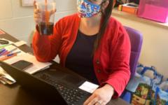 Mrs. Fine hard at work! (Photo credit: Kasey Gress)